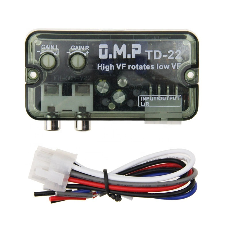 New Car Audio Amp 2 Channel RCA Line Output Converter with Short Protection