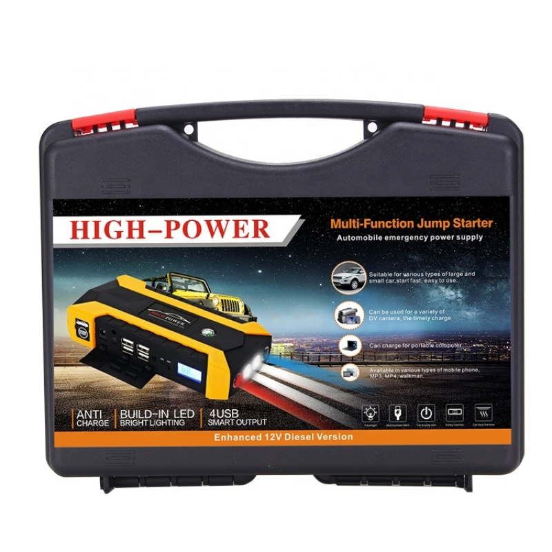 Quick Charge Multi-function Automobile Emergency Power Jump Starter with different charger optional