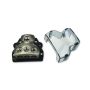 car audio main distribution frame terminal zinc alloy 1x0ga in 3x4ga out power distribution block