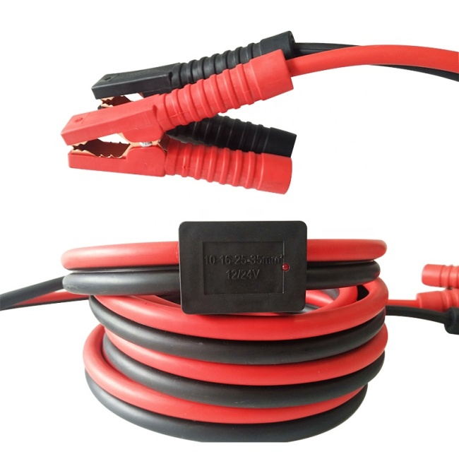 Commercial Red and Black Heavy Duty Jump Starter Cable with Overload Protection Device