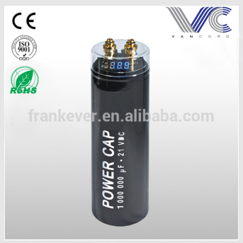 High Performance Power Capacitor 1000000 uF 21VDC electrolytic capacitors