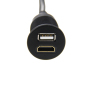 Car USB HDMI extension cable 1m USB2.0 hdml male to female electric motorcycle dashboard