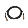 Male to female 6.5mm Black XlR To XlR Microphone Cable 3 pin high grade low noise microphone cable