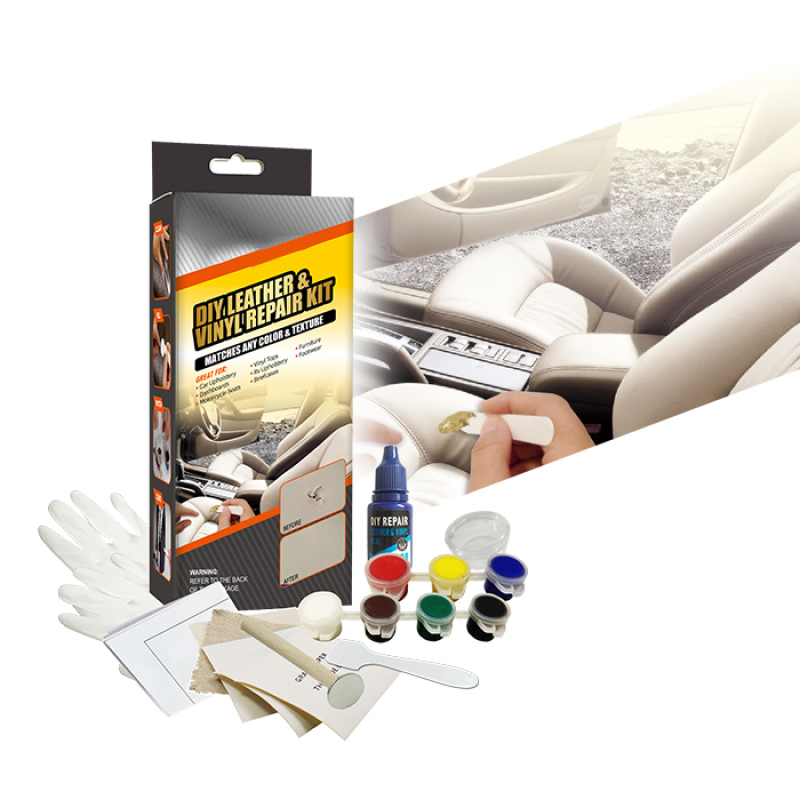 Auto Car Seats DIY Leather& Vinyl Repair Kit -Color Box,Match Any Color
