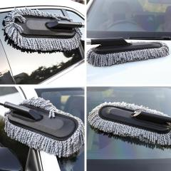 Telescopic Clean Microfiber Soft Hair Car Duster Wash Brush with Long Handle