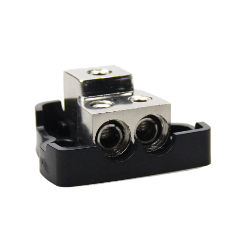 Car Audio Power 1*0/4ga in-2*4/8ga out Distributor Block Fuse Holder