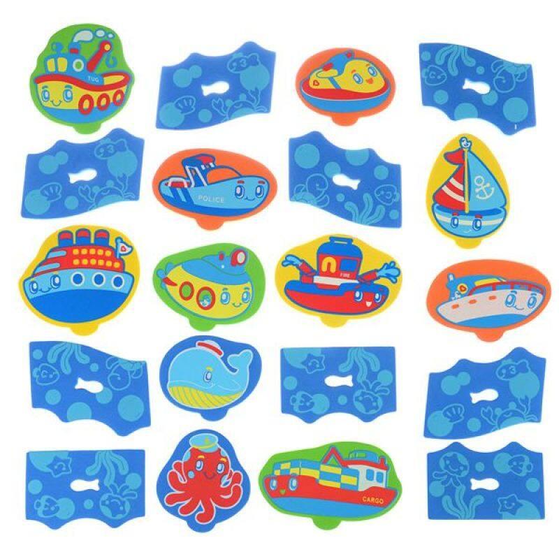 Educational letter number baby tub town foam bath toys with bath toy organizer