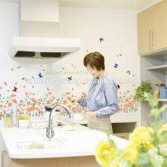 Promotional waterproof 3d butterfly spring wall decals