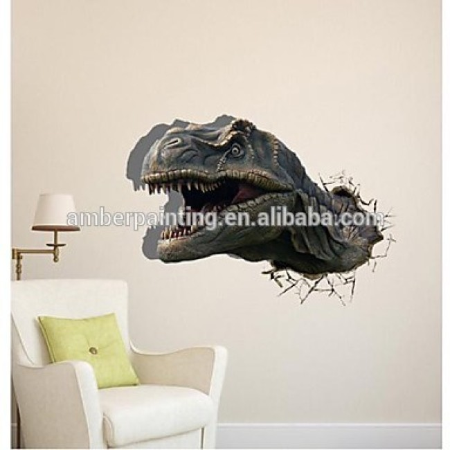 Custom design pop up 3d dinosaur wallpaper sticker for kids