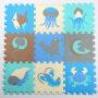Custom high quality baby educational Ocean foam puzzle mat kids play mat children