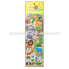 Wholesale OEM high quality puffy stickers set for kids