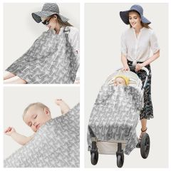 Babycare wholesale multi use baby car seat canopy Nursing Breastfeeding cover lightweight 100% cotton for breast feeding cover