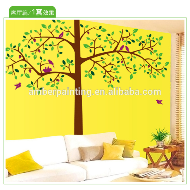 Family wall decor stickers huge tree wall sticker