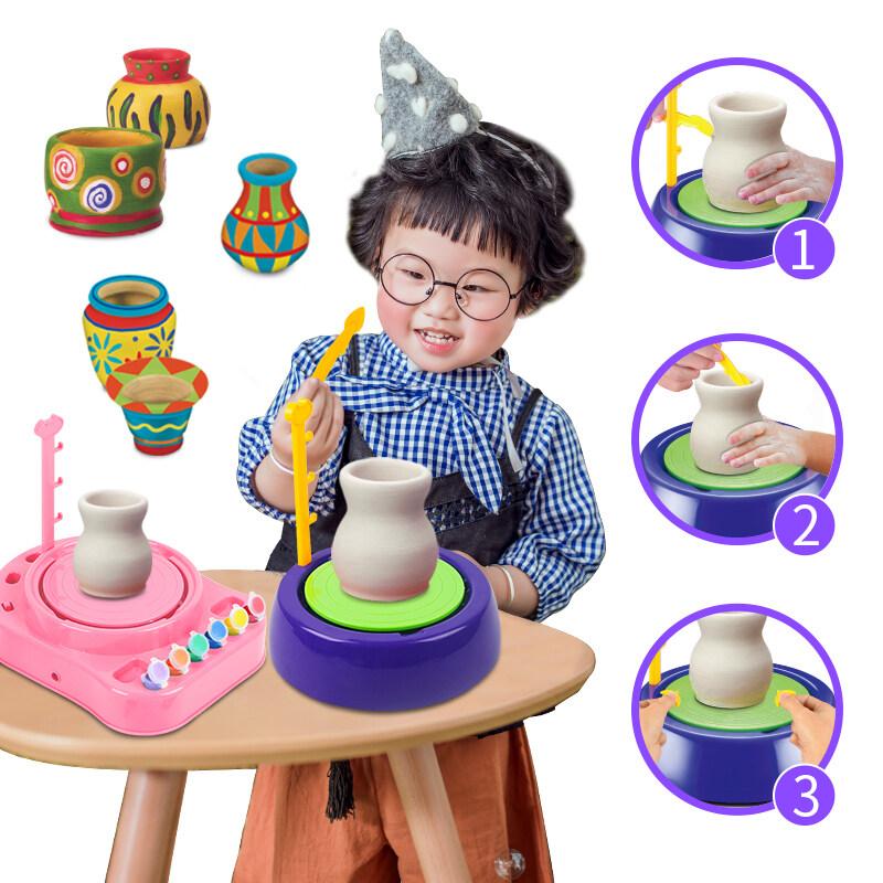 Ottery wheel kids Diy Craft Workshop Pottery Wheel Toy kit for kids
