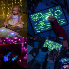 Wholesale high quality magnetic magnet drawing board light drawing magic light pen and draw board      drawing light board