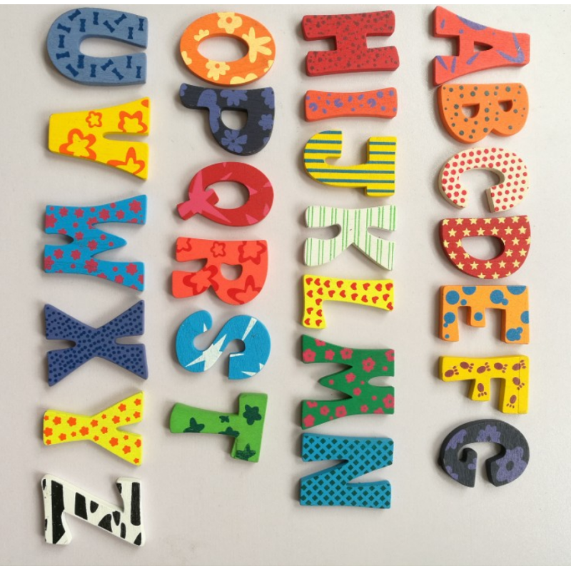 ODM OEM Wooden Thicker Magnetic Letters And Numbers Alphabet Fridge Magnet