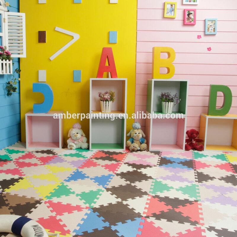 foam mini custom puzzle flooring mat waterproof baby play triangle mat