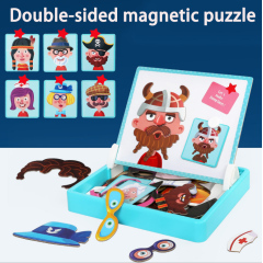 2020 Newest design magnetic puzzle for kids animal magnetic puzzle toy for education