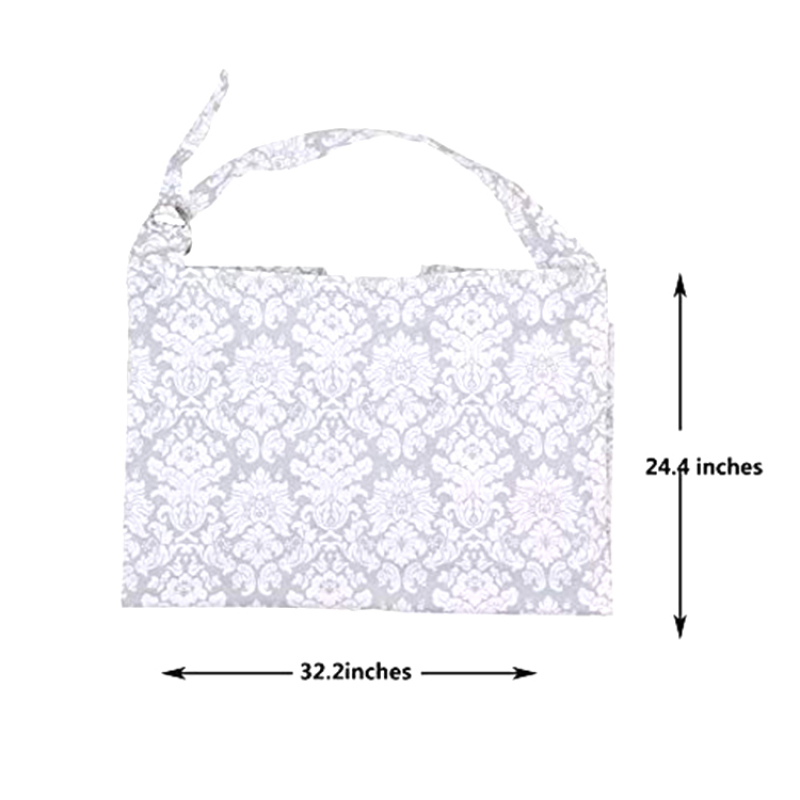 baby car seat cover canopy and nursing cover into a carry bag with 100% cotton fabric