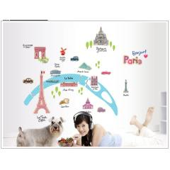 wall stickers of paris for teen bedroom