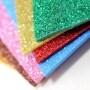 Self adhesive non toxic A4 size glitter eva foam sheet