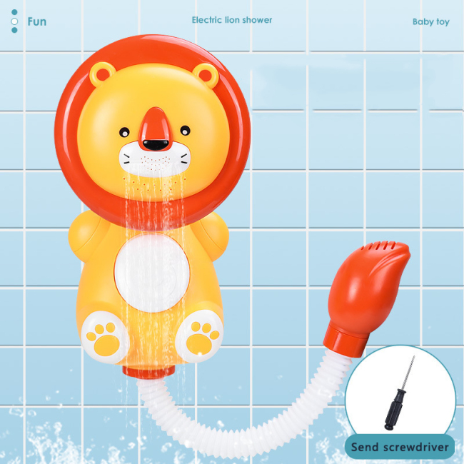 Wholesale animal shower head bath toys baby shower water spray  rain cloud bath toy
