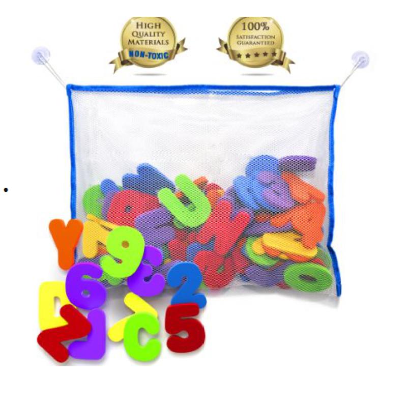 Non toxic eva foam bath toy baby tub town with toy organizer foam for kids