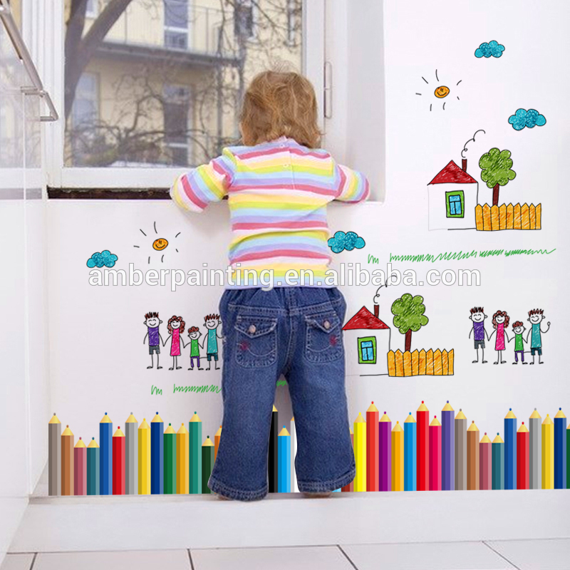 girls vinyl nursery pencil wall decals forest colors