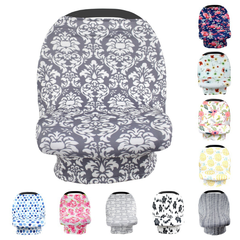 Wholesale  portable baby car seat cover canopy  breastfeeding cover cotton    baby breastfeeding cover