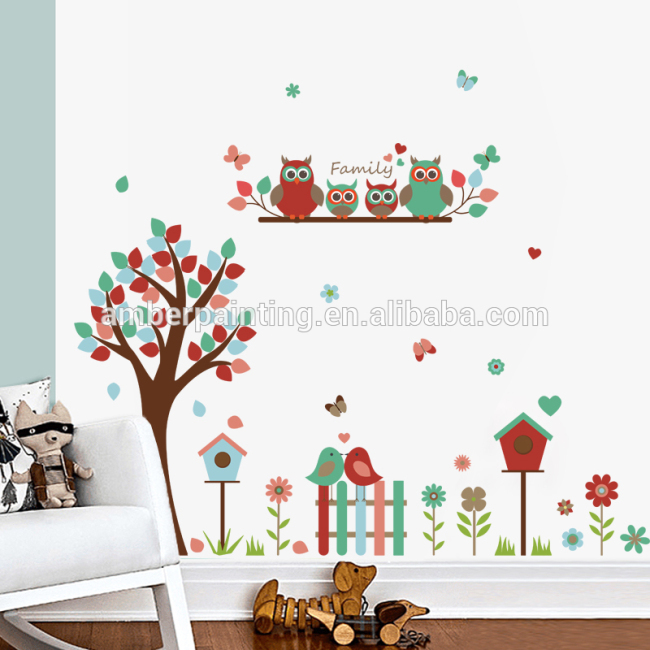Home Decor house quotes wall decals of owls toddler toys