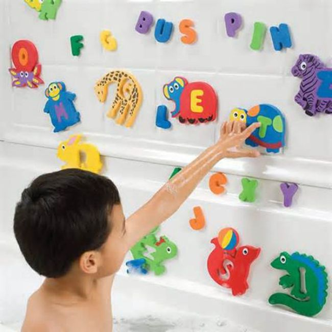Custom educational tub town bath toy alphabet letter foam bath toys