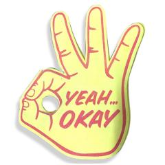 Colorful hot sale custom big cheering hand big foam hand cheering foam finger custom vocal