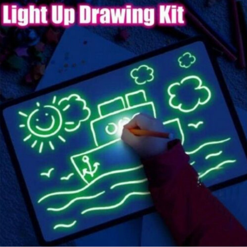 Wholesale light magnet drawing board a4/ a3 big light luminous drawing board kids