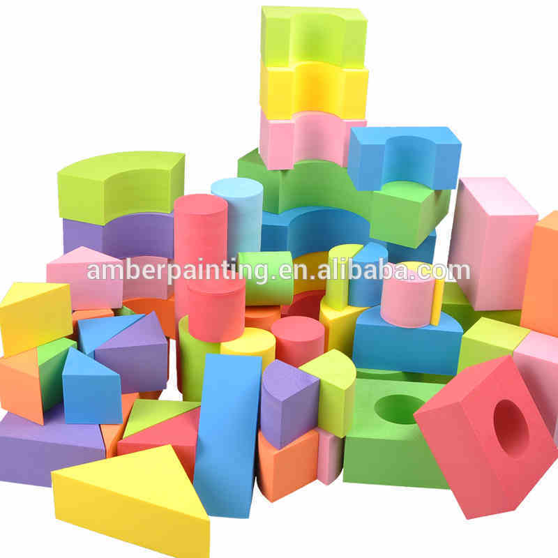 colorful large funny imagination foam building block for toddlers
