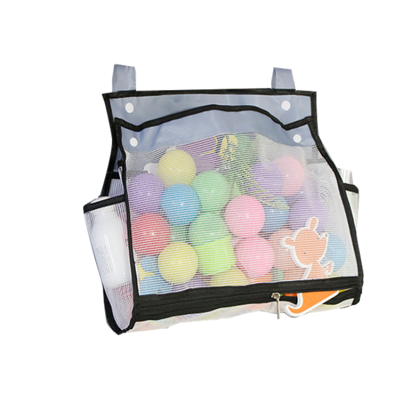 Mesh net Plastic Zipper Slider Clear Pvc Bag