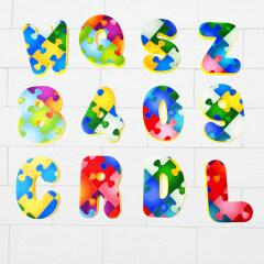 New arrival kids toy EVA foam alphabet letter with pattern