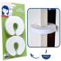 Wholesale child safety white foam door stops door stopper baby safety