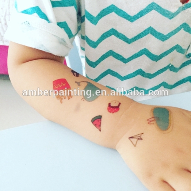 Custom temporary Kids safe tattoo for promotion
