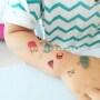Custom temporary Kids safe tattoo for promotion