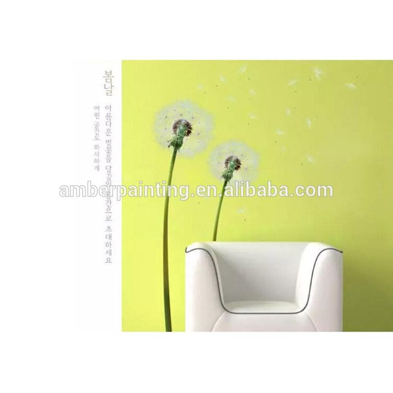 white flower wall stickers dandelion wall sticker for bedroom