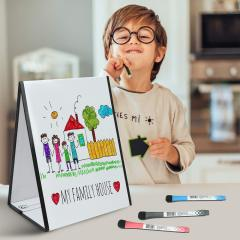 Educational magnetic toy whiteboard with stand for kids A313