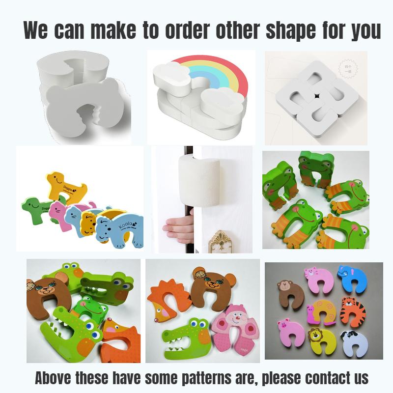 Custom Hot sale animal C shape EVA foam baby door stopper for kids