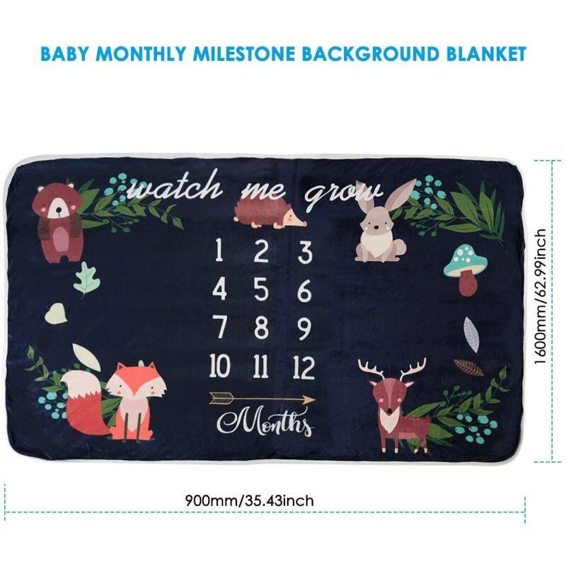 Baby newborn moon space milestone blanket muslin flannel fleece and dads love