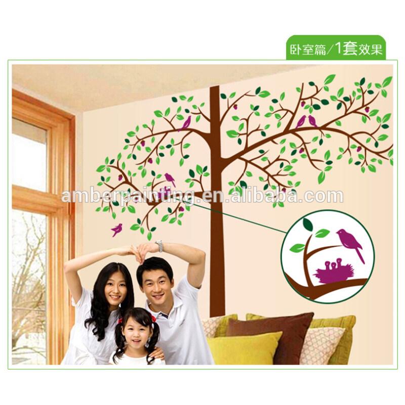 Family wall decor stickers huge tree wall sticker