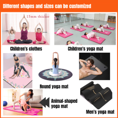 Wholesale multifunctional nbr printed yoga mats  foldable yoga mat