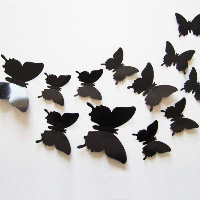 Best selling products 2020 in usa amazon butterfly PVC wall sticker 3d decoration
