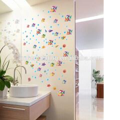 child unique tropical fish bathroom wall ocean decals