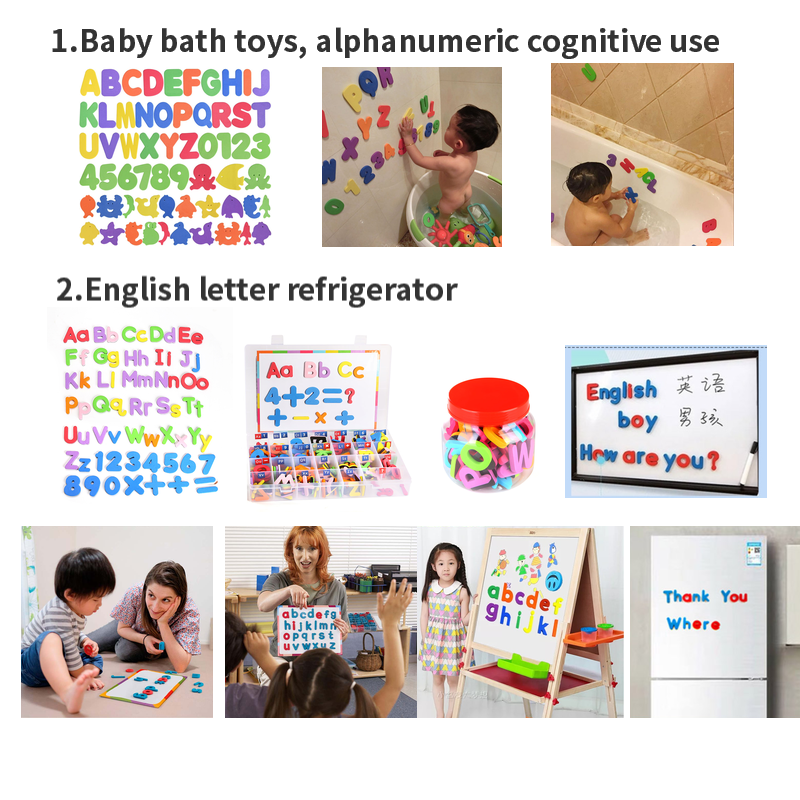 customized colorful beautiful eva fridge magnet letters for kids