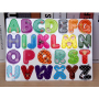 Custom fridge magnet letters alphabet and number child learn toys