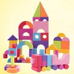 Soft eco friendly kids educational toys eva foam building block